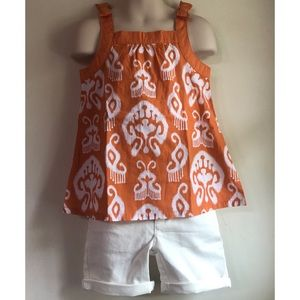 Gymboree Batik Summer Tank & Shorts SET 4 4T 5 5T